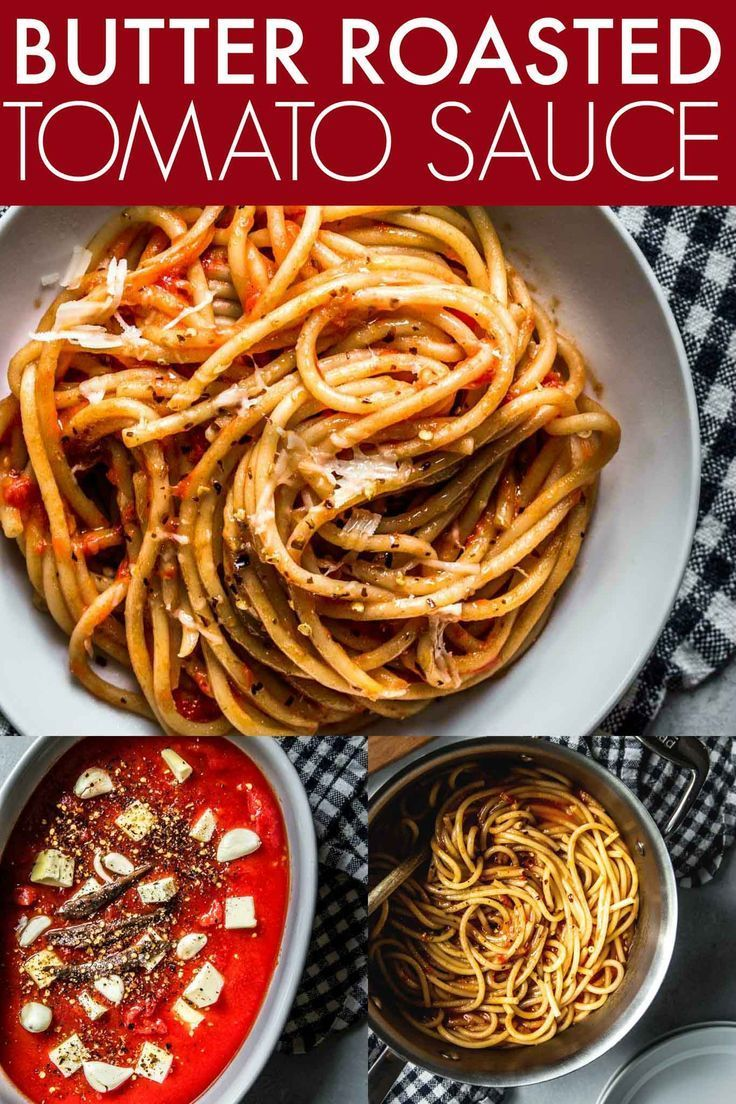 Butter Roasted Tomato Sauce Comes Together Easily With No