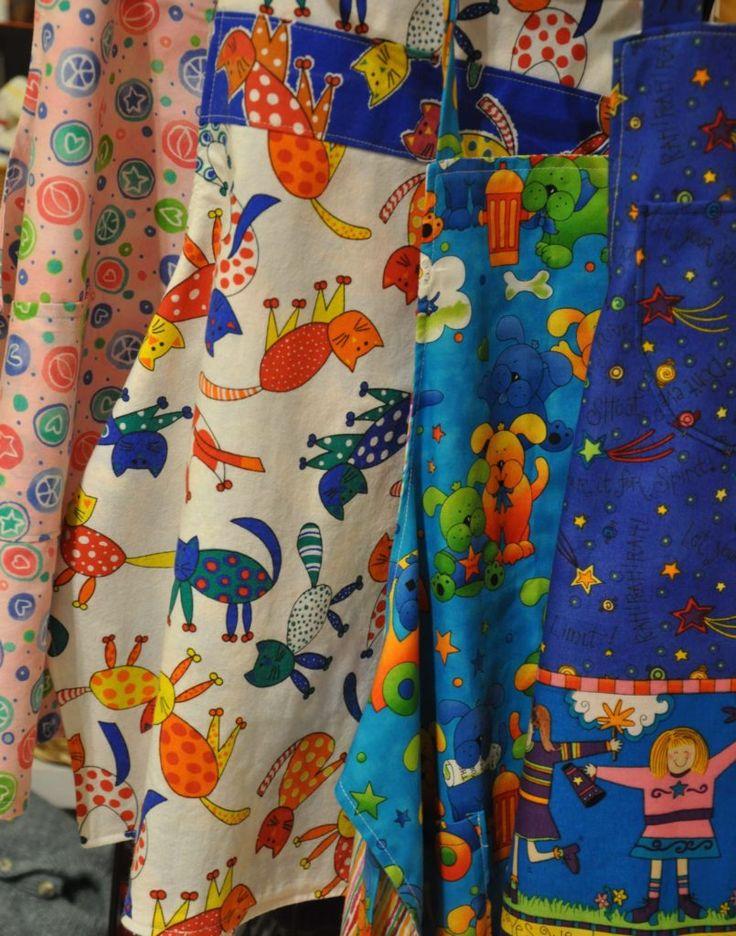 Maxine Borowko children's reversible aprons