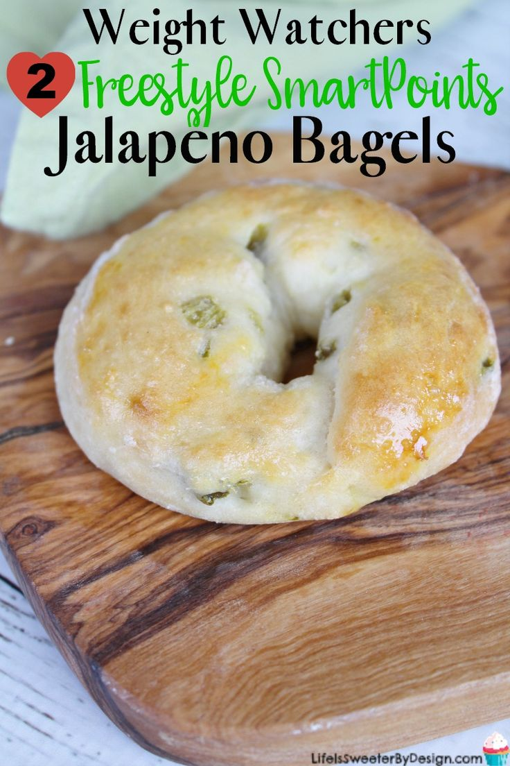 Weight Watchers 2 Ingredient Bagels with Jalapenos are a spicy twist on a low point treat. Only 2 freestyle SmartPoints each these Weight Watchers bagels are delicious.