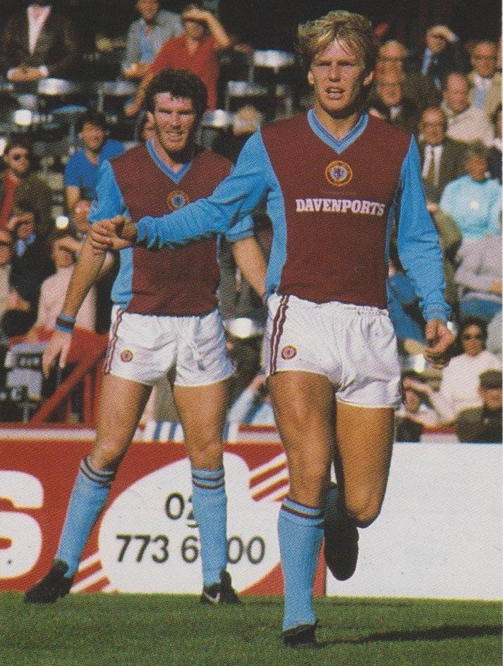 Peter Withe & Gary Shaw Aston Villa 1982/83