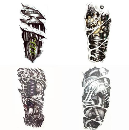 4 pcs/set  21X15cm Multi-style Music Band Tattoo