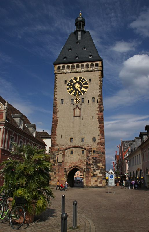 Altpoertel is the medieval west city gate of Speyer, Germany