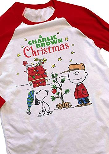 855c02afa New CHICFLORAL A Charlie Brown Christmas Baseball T-Shirts Women's Casual  Long Raglan Sleeve Baseball