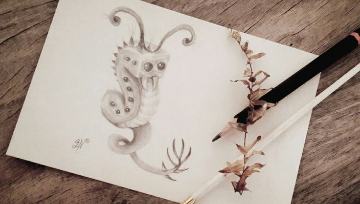 Little monster doodle