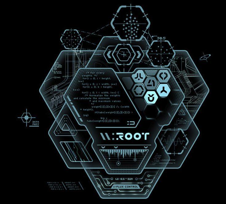 Tron UI concept | sci-fi | #ui #interface #scifi #futurustic #tron #cinema #glow #light #blue #geometry