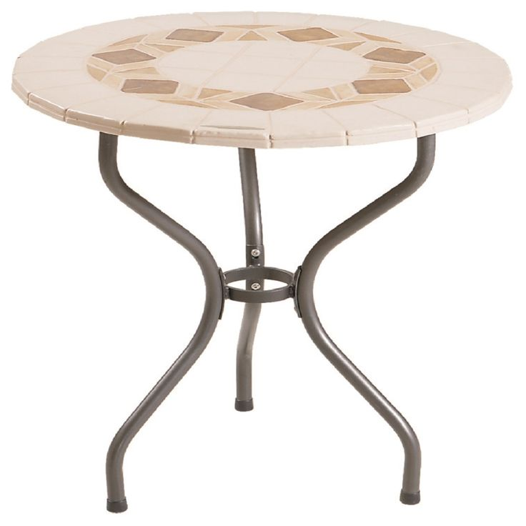 Round, contemporary Table 'Sasso', very resistant and sturdy, at My Italian Living Ltd