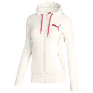 PUMA Sherpa Full Zip Hoodie - Women's - Sport Inspired - Clothing - Whisper