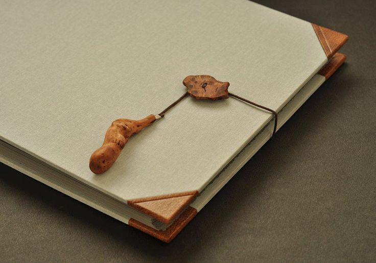 Photo Album - leather, cloth and wood, Pracownia Leśna 6