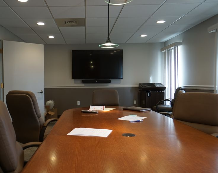 Clean install of a conference room TV at North American Electrical Contractors Association.