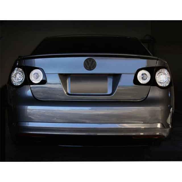 Parts4Euro Black Clear LED Taillights for MK5 Jetta Sedan