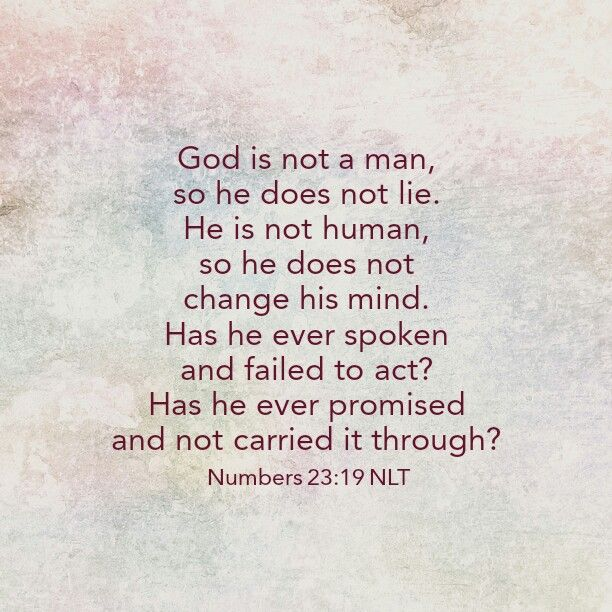 Image result for God is not man that he should lie