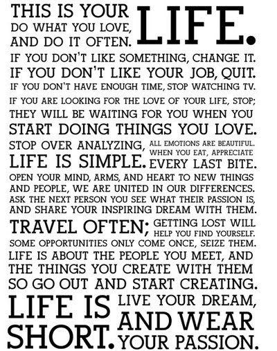 Absolutely PERFECT.  Live your Dream and wear your Passion