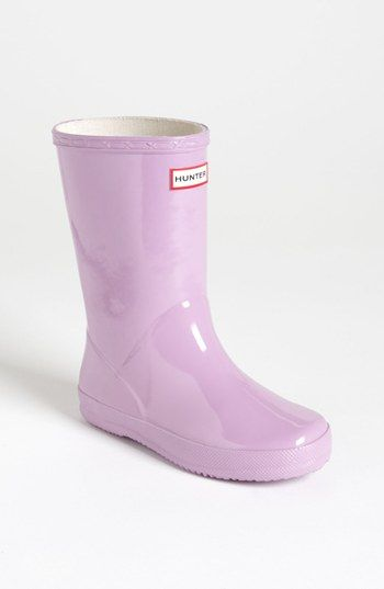 Hunter 'Kid's First Gloss' Rain Boot (Walker, Toddler & Little Kid) available at #Nordstrom