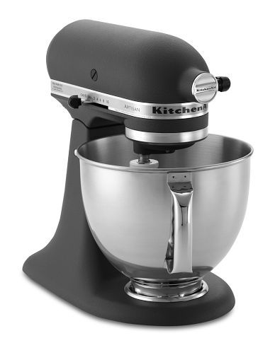 KitchenAid Artisan Stand Mixer in Imperial Grey. To die for and would be a great companion to the LG black stainless line. I love making homemade pasta with my pasta attachments. #LGLimitlessDesign #Contest
