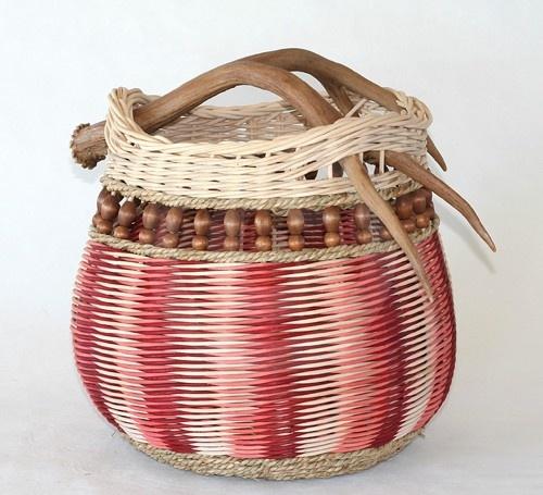 Gratiot Lake Basket Weaving Supplies : Best antler baskets images on basket