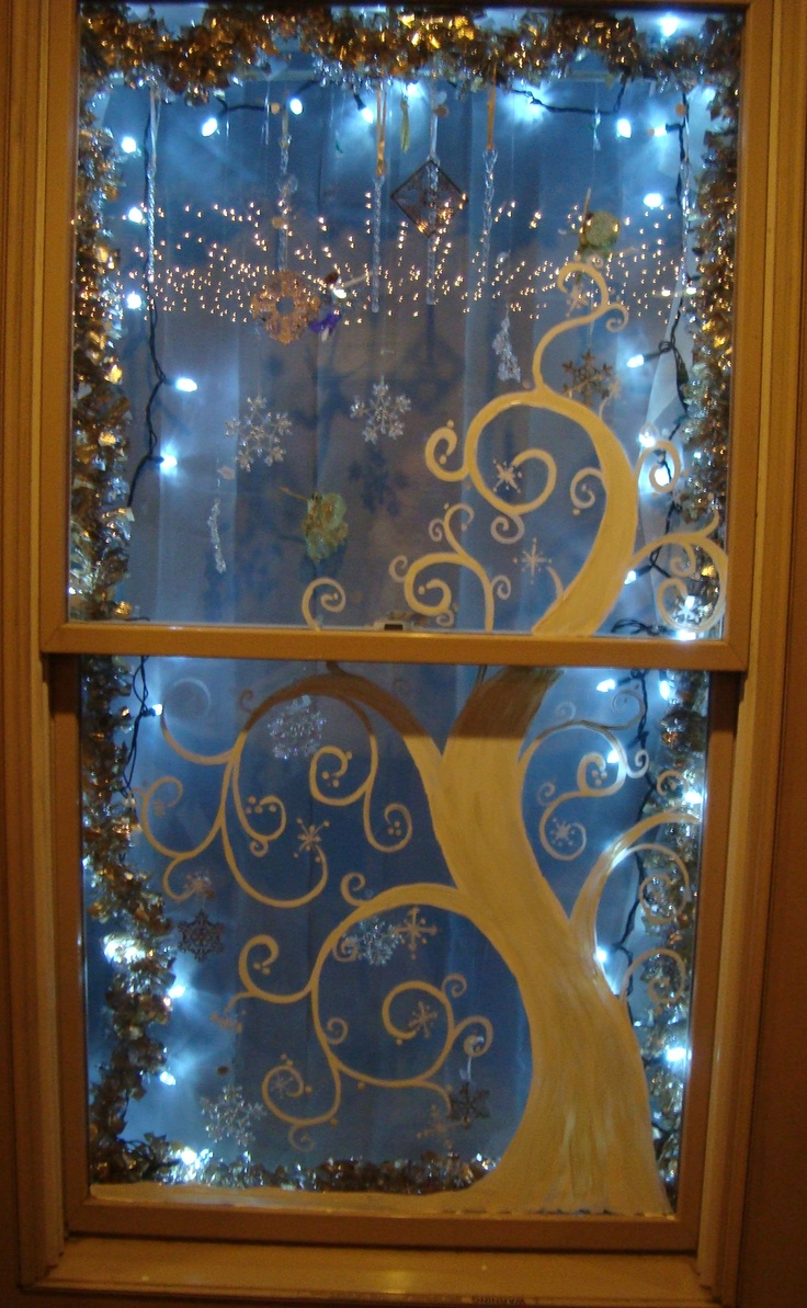 Our sparkling winter windows painted by Terrah