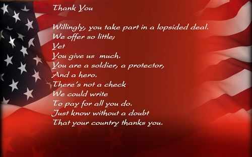 Veterans Day Thank You Poems | Free Veterans Day Thank You Poem For Kids 2014