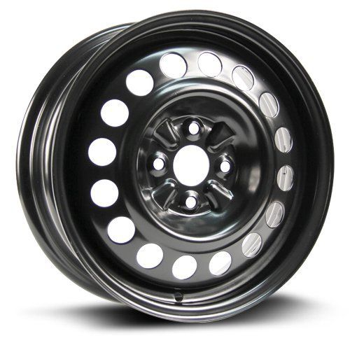 """#Steel #Rim 15X5.5, #4X100, 54.1, +45, #black #finish (MULTI #APPLICATION FITMENT) #X40957 FREE SHIPPING This #rim only fits 15"""" tires. Please check the tire size you will be installing on this #rim prior to purchase. #Rim size: 15X5.5 https://automotive.boutiquecloset.com/product/steel-rim-15x5-5-4x100-54-1-45-black-finish-multi-application-fitment-x40957/"""