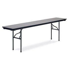 """Virco® 601896 Traditional Folding Table 18""""X96"""", Black With Gray Top by VIRCO INC. $130.95"""