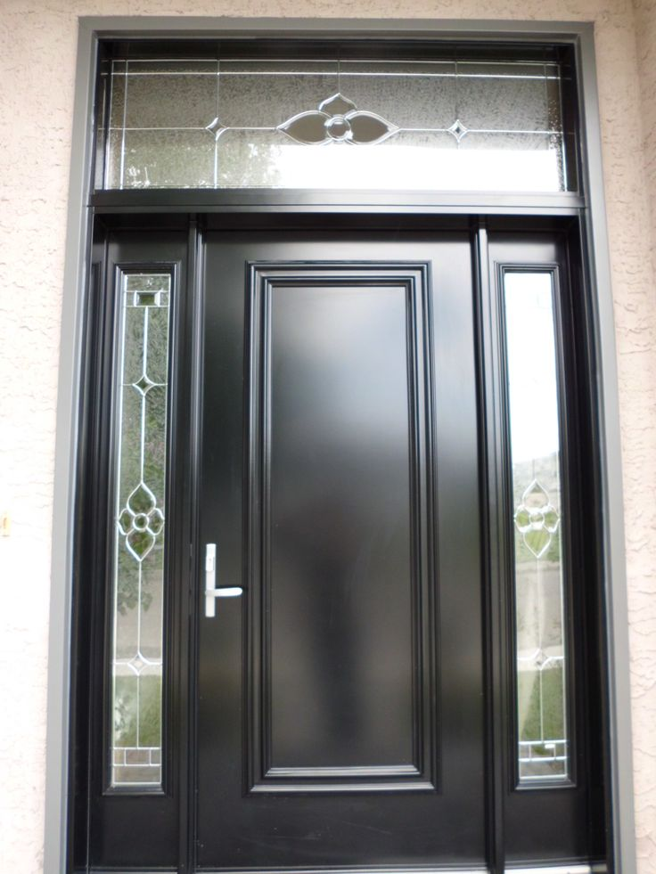 Star Glass Insert By Trimlite Black Coloured Single Entry