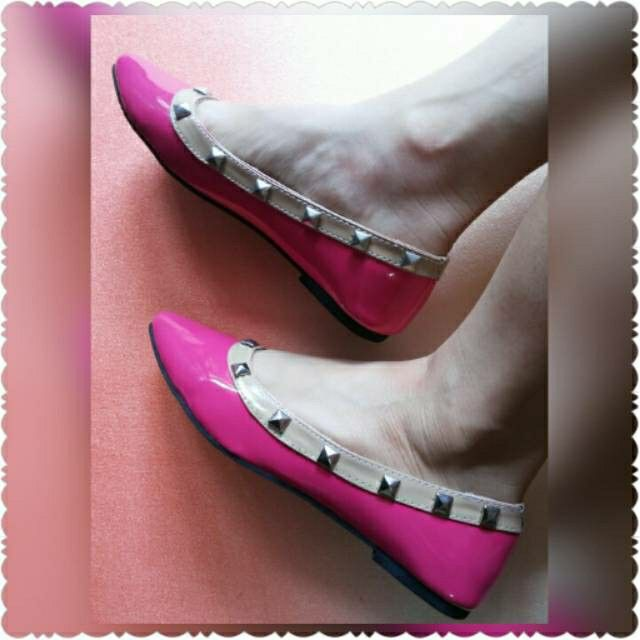 REAL PICTURE FLAT SHOES PINK FANTA. Rp.68.000,-