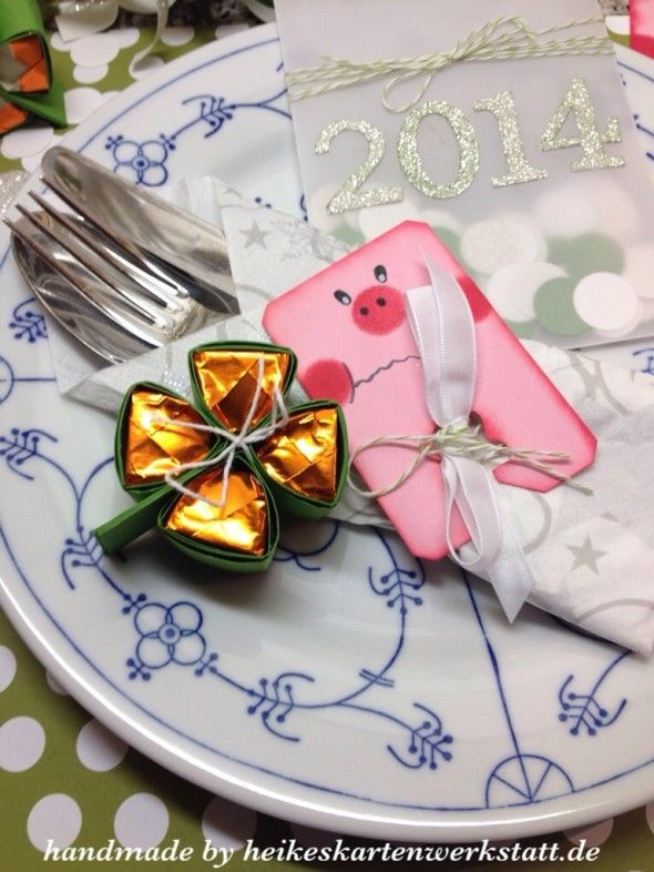 tutorial video Silvesterdeko, chocolate clover