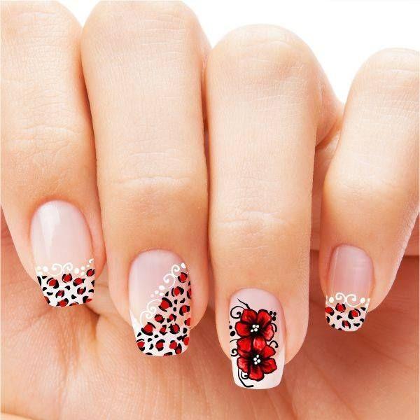 unhas decoradas oncinha vermelha nails art unhas artisticas arte na unha faça você mesmo