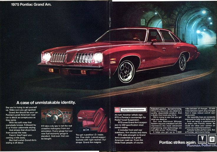 https://flic.kr/p/V28W8Z | 1975 Pontiac Grand Am Advertising Road & Track November 1974 | 1975 Pontiac Grand Am Advertising Road & Track November 1974
