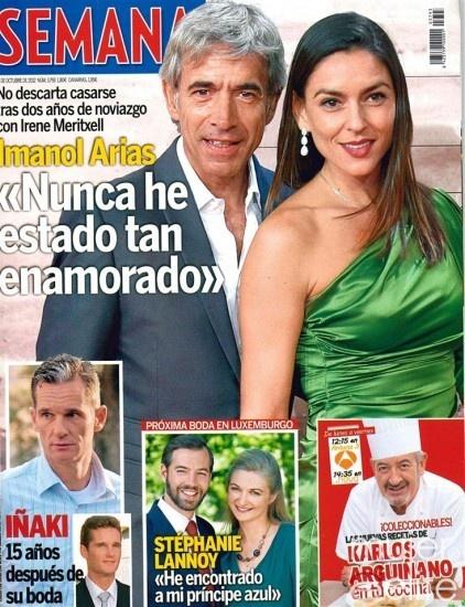 Las portadas de las revistas del corazón de esta semana: Imanol Arias y su novia Irene Meritxell piensan en boda