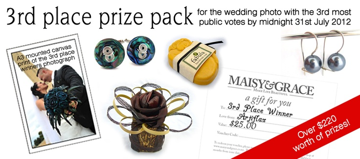 3rd prize for the Wedding Photo with the 3rd most public votes by midnight 31st of July 2012