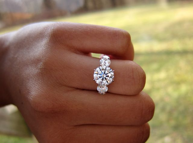 5 stone engagement ring in handmade setting by Diamonds by Lauren oh my goodness!