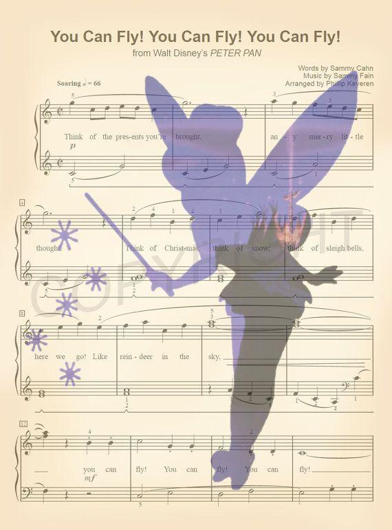 Peter Pan Tinker Bell Silhouette Art Print par AmourPrints sur Etsy