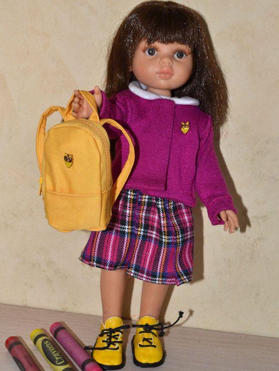 Uniformes escolares para muñeca de 32 cm de Paola Reina