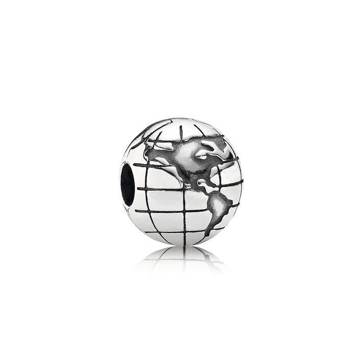 Globe Clip - Pandora UK | PANDORA eSTORE