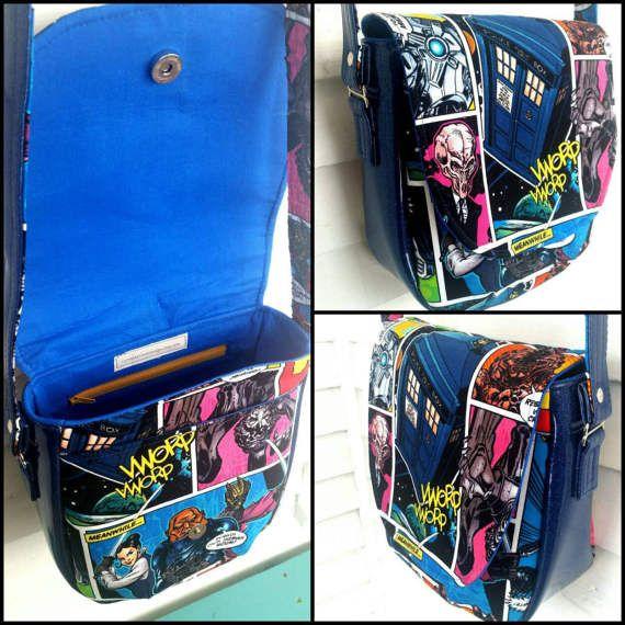 Doctor Who Handbag Saddle Bag Glitter Vinyl Purse Crossbody