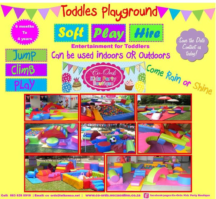 Soft Play Hire - the latest innovation for toddlers parties