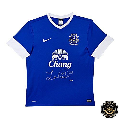 Landon Donovan Autographed/Signed Authentic Blue Nike Everton Jersey >>> Continue to the product at the image link.