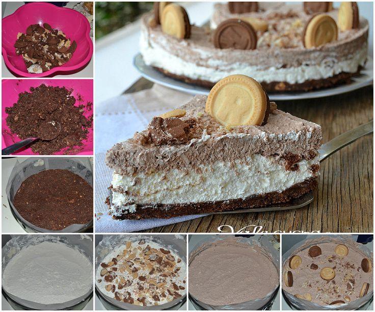 Μια πανεύκολη συνταγή για μια υπέροχη, ανάλαφρη τούρτα με μπισκότα και αφράτη κρέμα τυριού που σίγουρα θα απολαύσετε σε όλες τις περιστάσεις. blog.gialloza