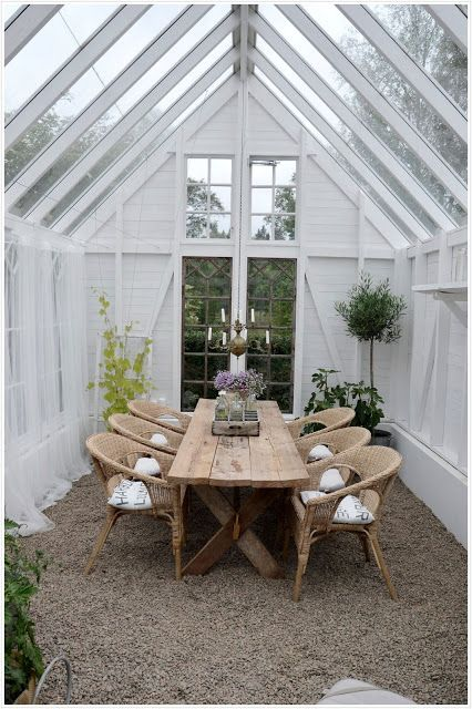 Greenhouse patio seating outdoor yard deck farmhouse country nordic