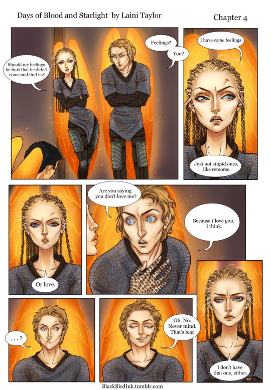 Daughter of Smoke and Bone comic by BlackBirdInk Art