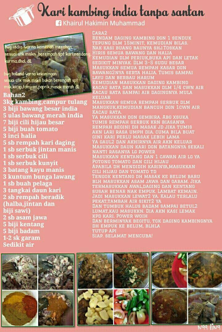 Kari Kambing Tanpa Santan / Resipi Nasi Arab Kari Kambing 44 Hari Kari Kambing Ala 40 Hari Tanpa