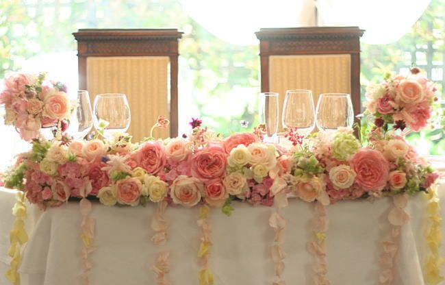 新郎新婦様からのメール 原宿ルセーヌ様へ : 一会 ウエディングの花