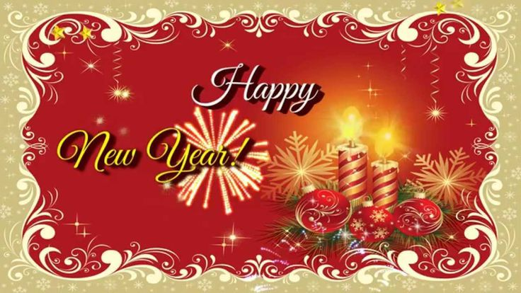 Happy New Year 2015 Ecard for sister, video greeting