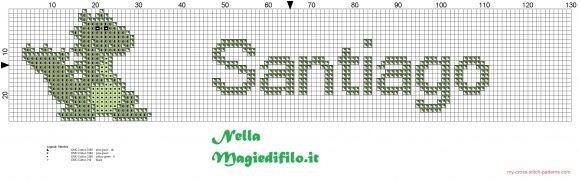 Santiago nombre con el dinosaurio (click to view)