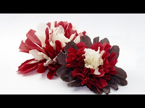 In this step by step tutorial we'll craft a beautiful paper flowers for a gorgeous garland using which you can create incredible compositions for party! #crepeflowers #papergarland #decoration