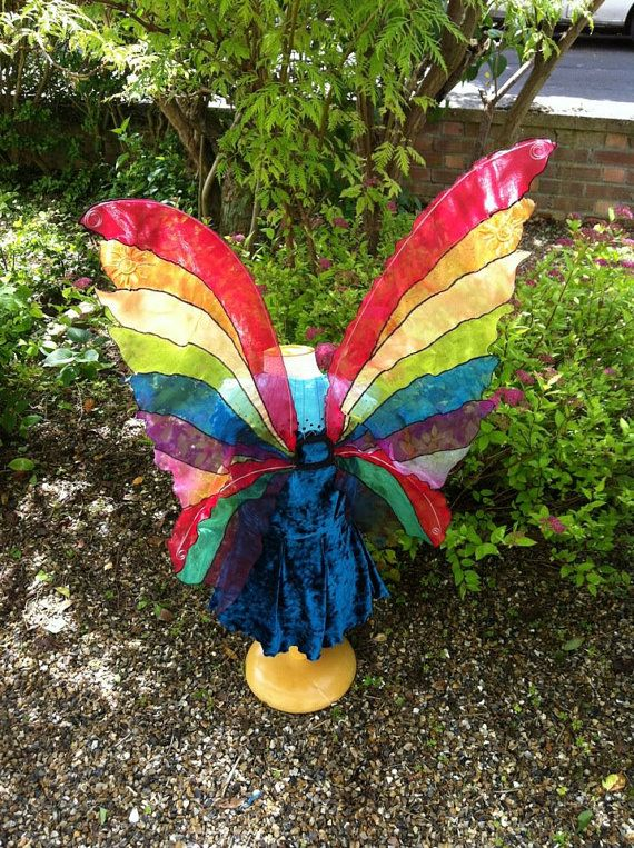 Unique very Large Rainbow Adult Fairy Wings by Fairytrade on Etsy, £65.00