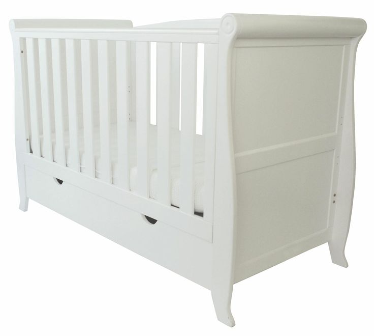 Buy your Kiddicouture The Woodhouse Sleigh Cotbed White reviews from Kiddicare Returning Stock| Online baby shop | Nursery Equipment