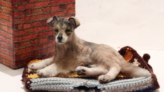 OOAK Realistic Miniature Homeless stray dog Mongrel by malga1605