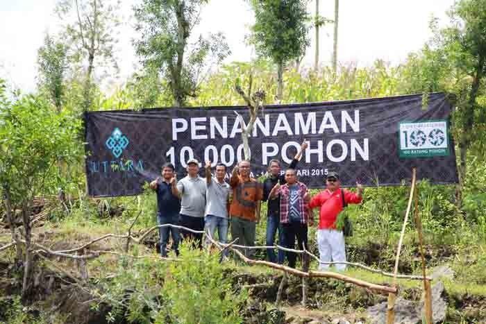 Penanaman 10.000 pohon oleh pengembang apartemen Uttara The Icon di Jogja.