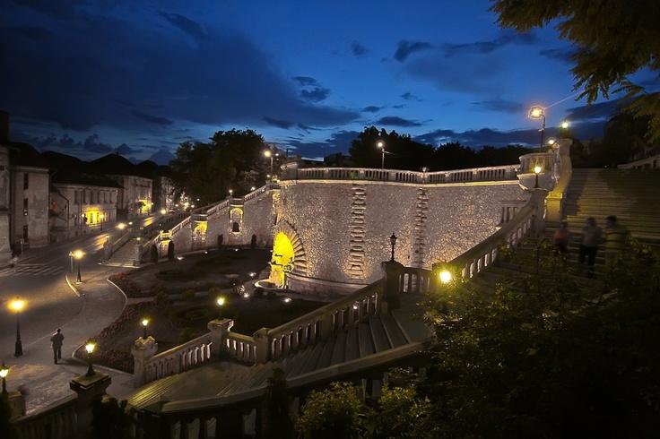 Yellow ravine in the night - Iasi - Romania by Mihai Cantea